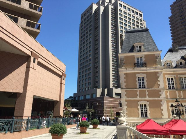 東京都恵比寿にある恵比寿ガーデンプレイスからみたウェスティンホテル東京