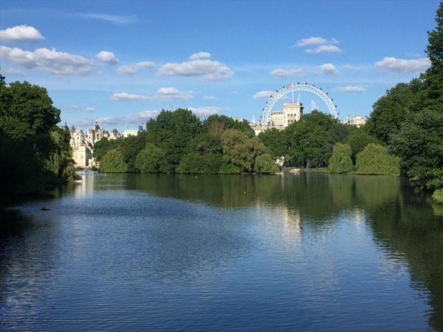 イギリスの公園の景色