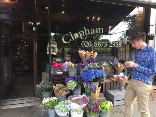 イギリスの花屋の店先
