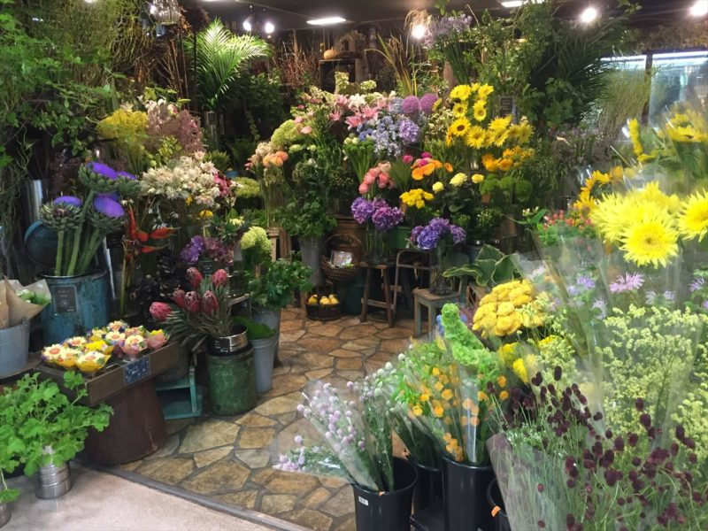 店内の花屋さん