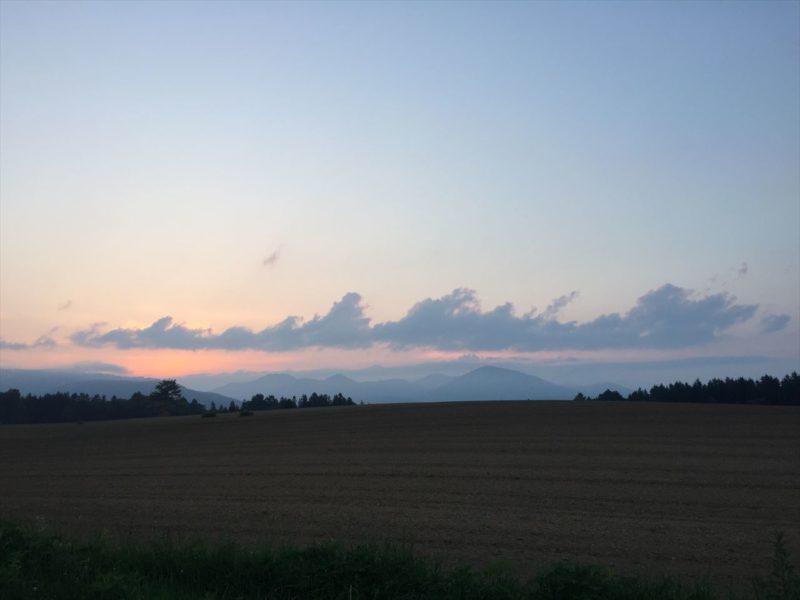 安比高原の夕日