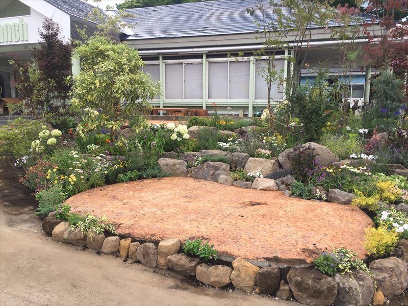 植栽が終わった庭