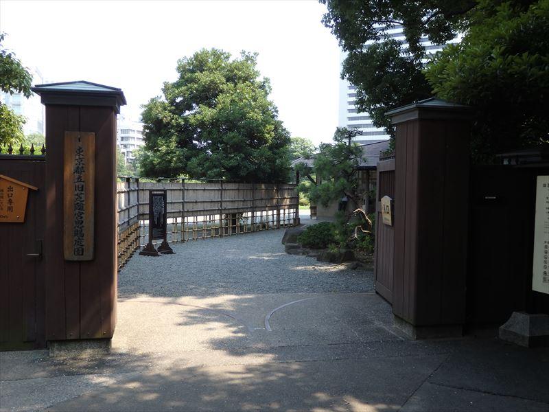個人的に好きな入り口から園内が見える風景