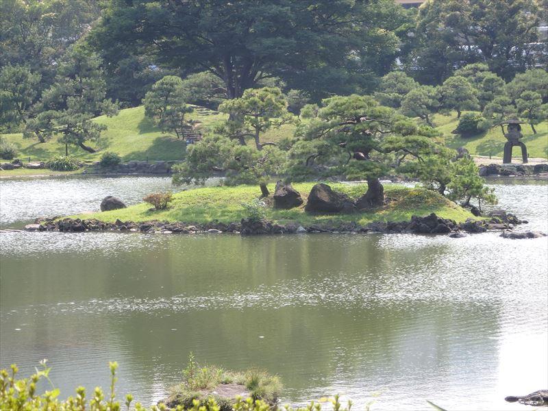行くことのできない庭園の浮島