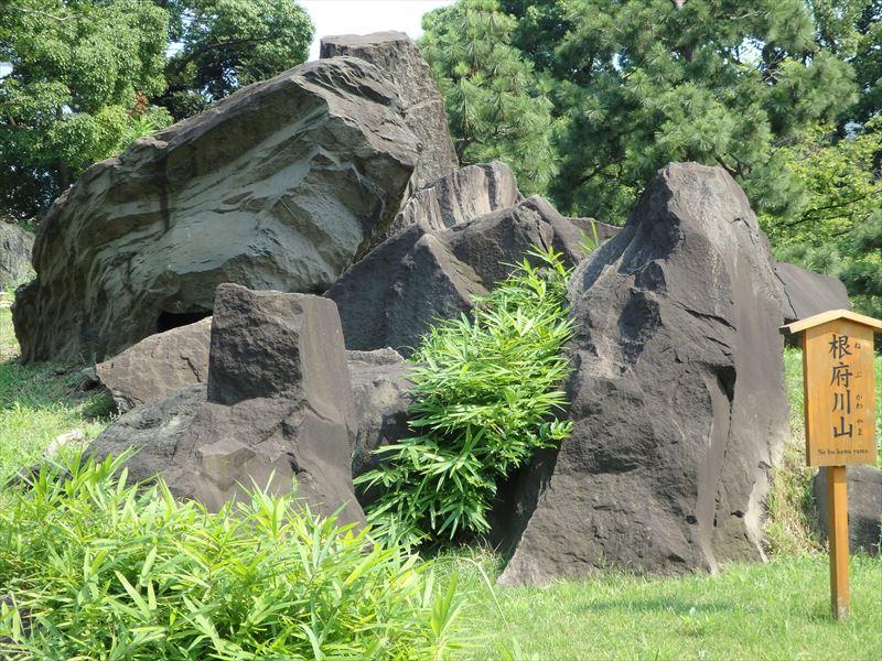 根府川の石を使った根府川山