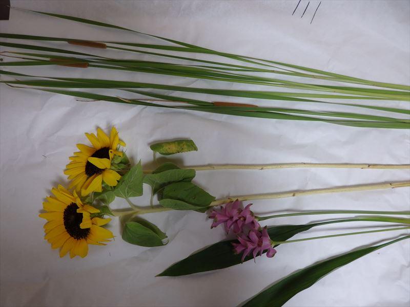 真夏の生花の三種生