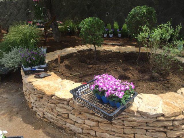 おしゃれ花壇の植栽