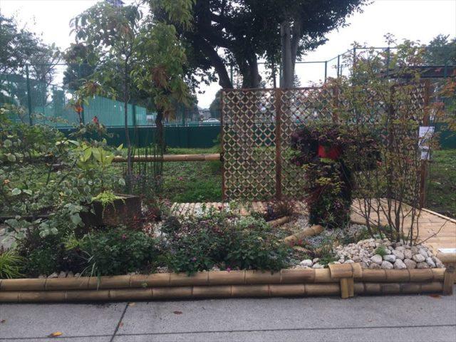 和テイストのお庭