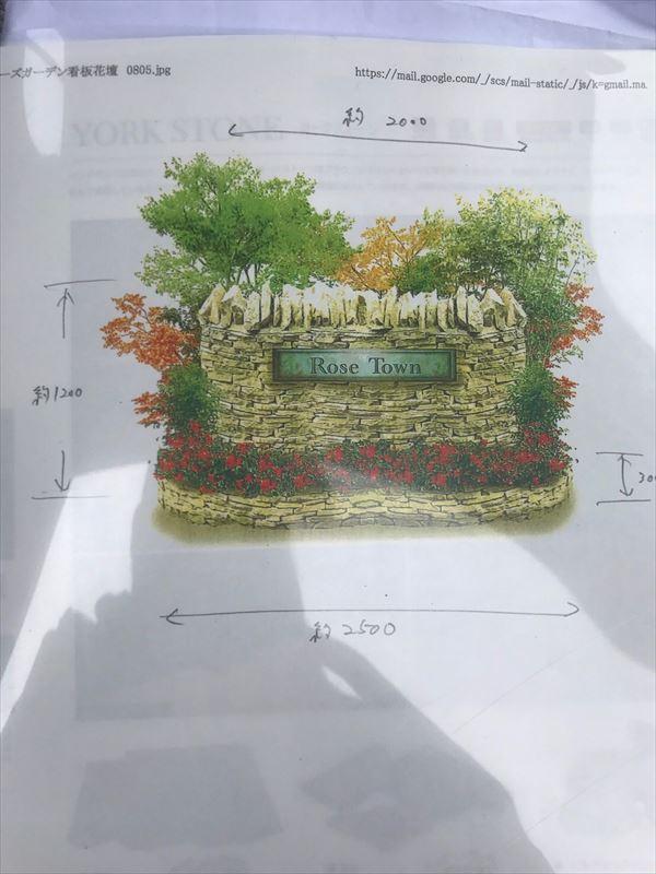 住宅開発地域の看板完成予定図