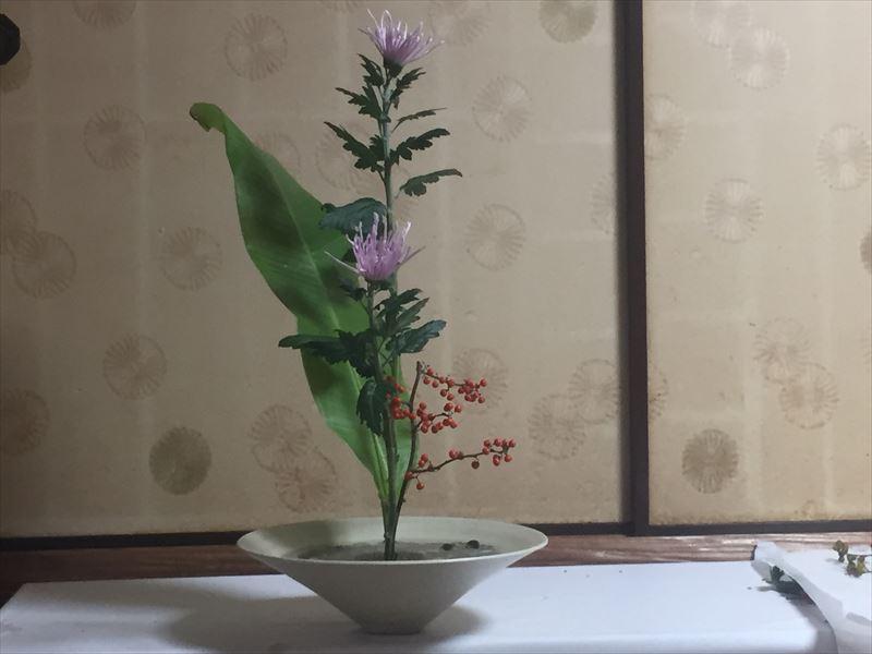 初めて挑戦した新風体生花