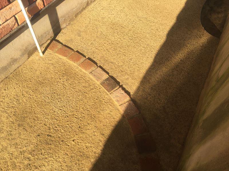 完成度の高い完成した真砂土舗装