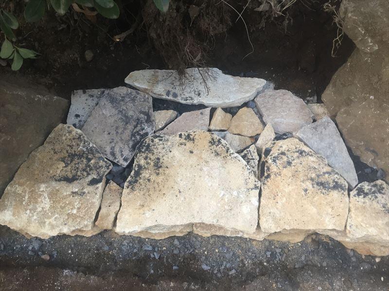 石積みの一番最初の部分