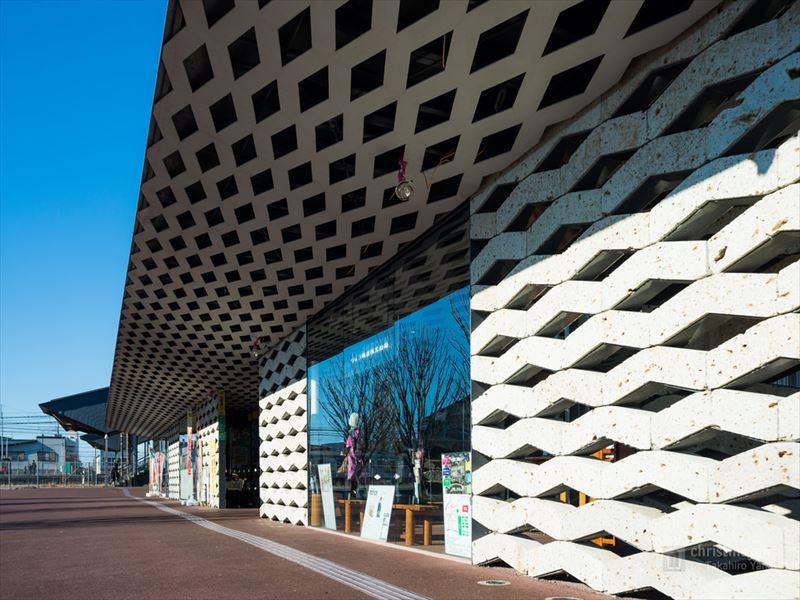 大谷石の建材を使用した岐阜県にあるちょっ蔵広場