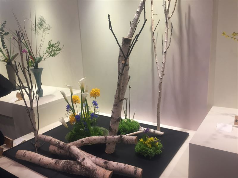 東京の先生の自由花の作品