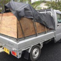 千葉での庭づくりのためいつも荷物が満載のgrengren1号車