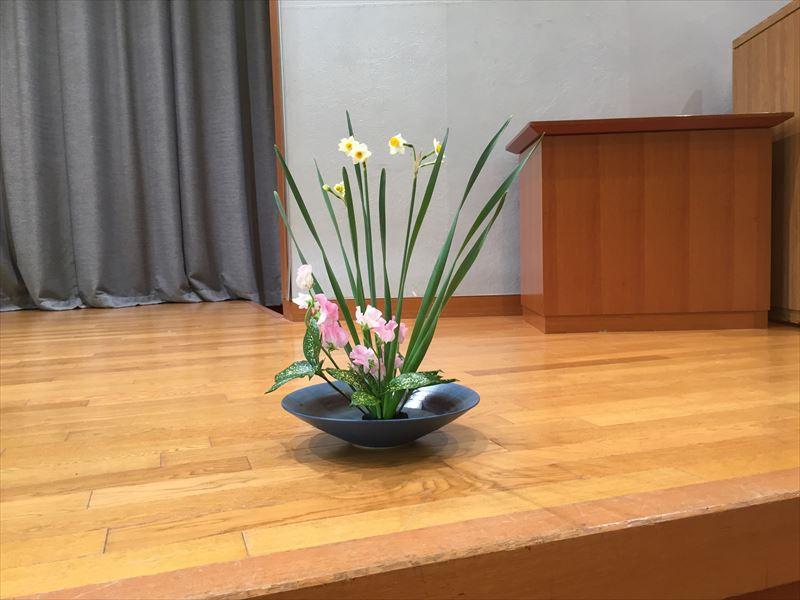 水仙が冬の季節を告げてくれる池坊自由花