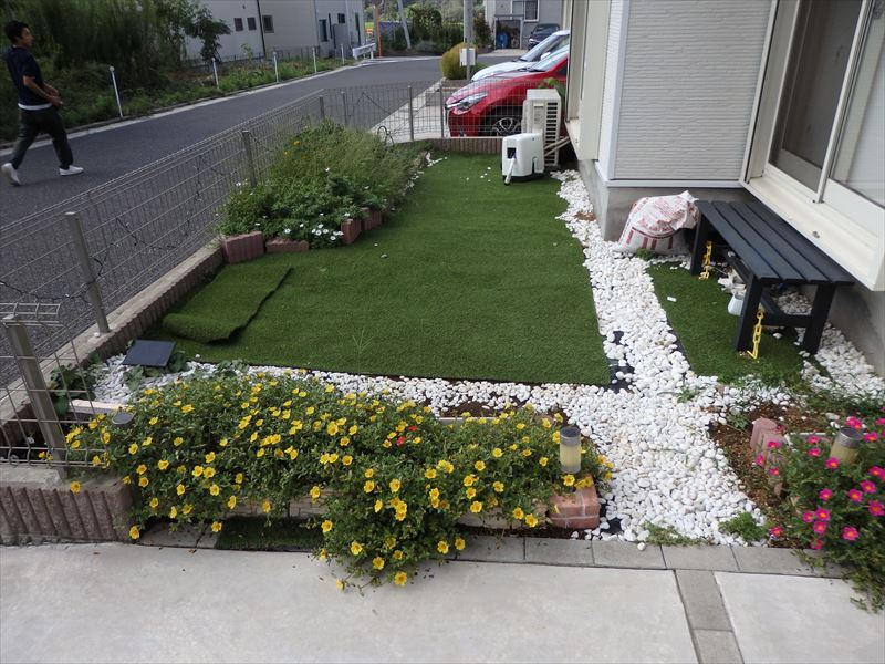コツコツと長い時間をかけてDIYされた理想のお庭
