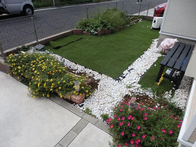 DIYで長い時間かけて作った理想的なお庭