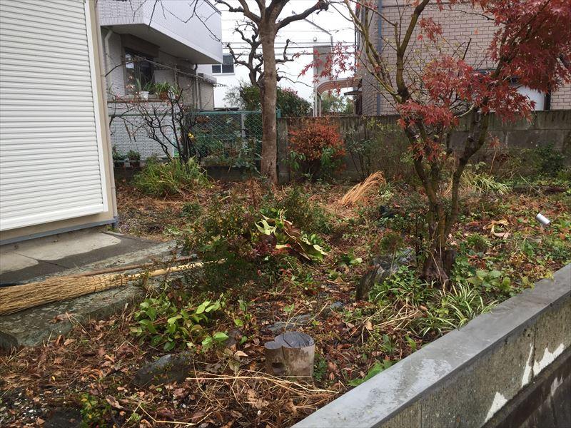自宅をリノベーション後も手付かずになっていた荒れた庭