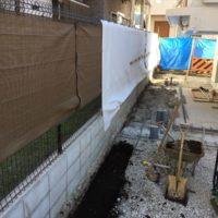 急ぎの仕事で大田区のブロック&フェンスを施工します