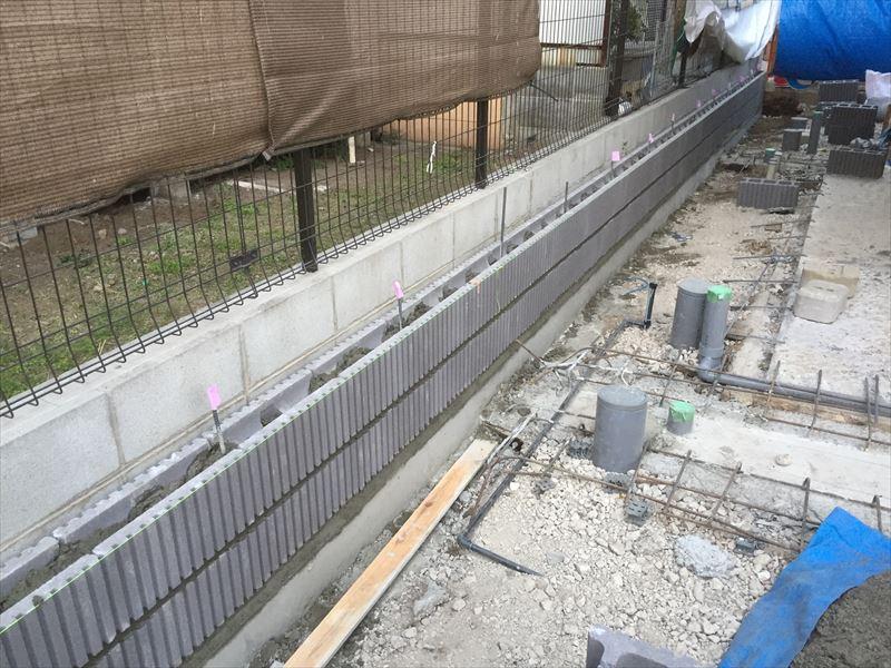手慣れた職人によるブロックの施工事例