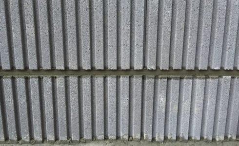 水平がとれている化粧ブロックの施工状況