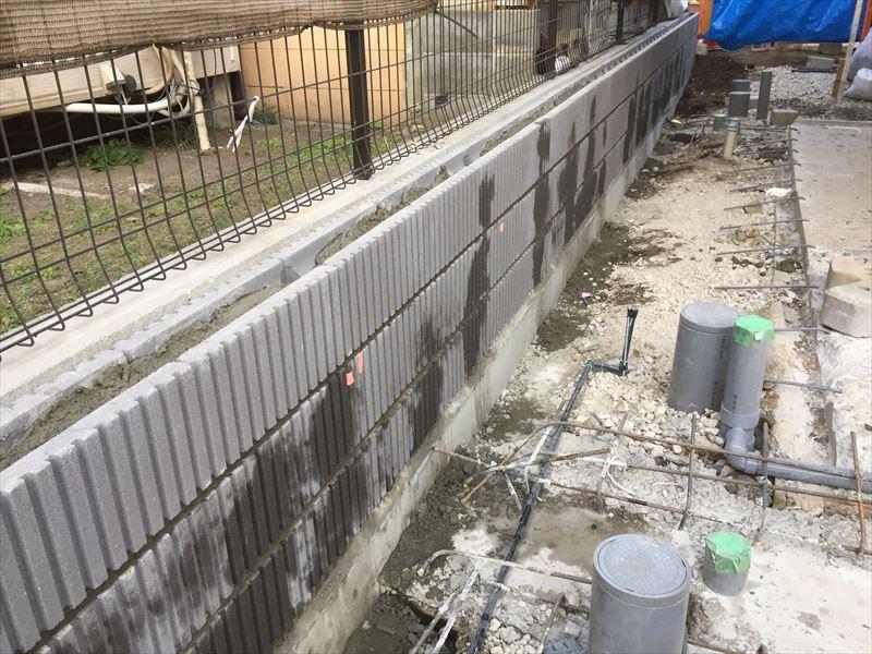 一日で施工が終わった3段ブロック