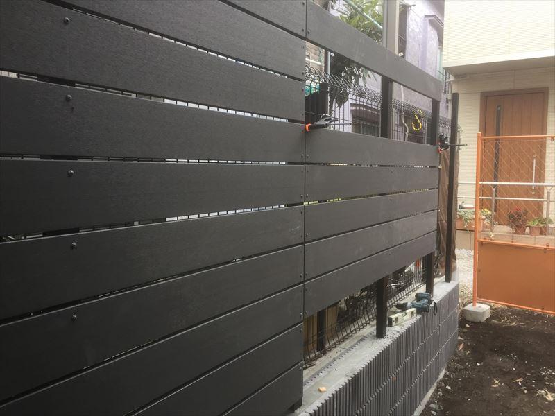 施工状況が良く分かる東京都大田区のブロック&フェンス