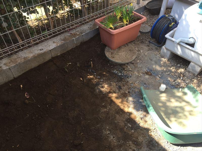 リガーデンを行うためにリセットされた庭