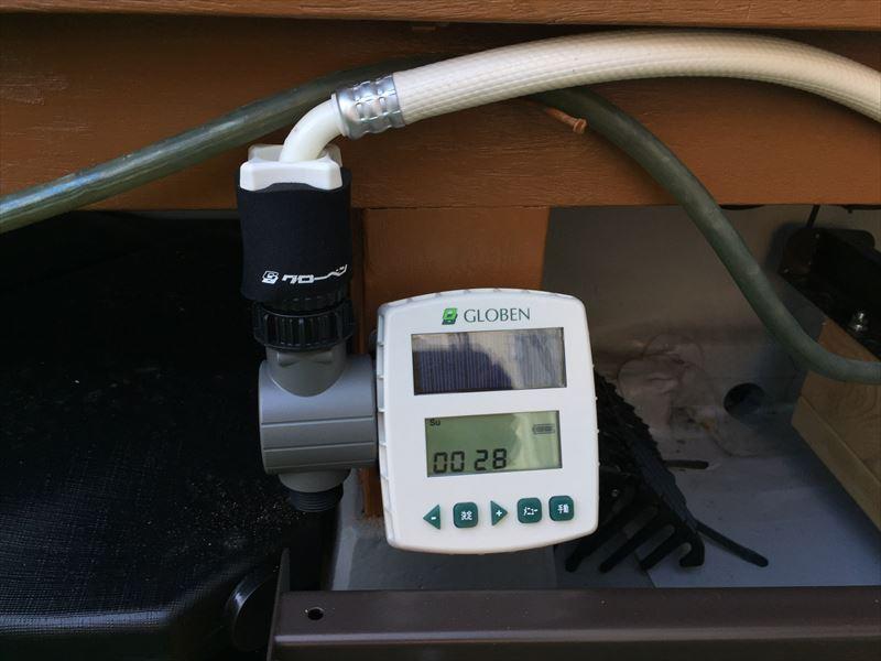 ソーラー電池で動くグローベンが提供する自動灌水装置