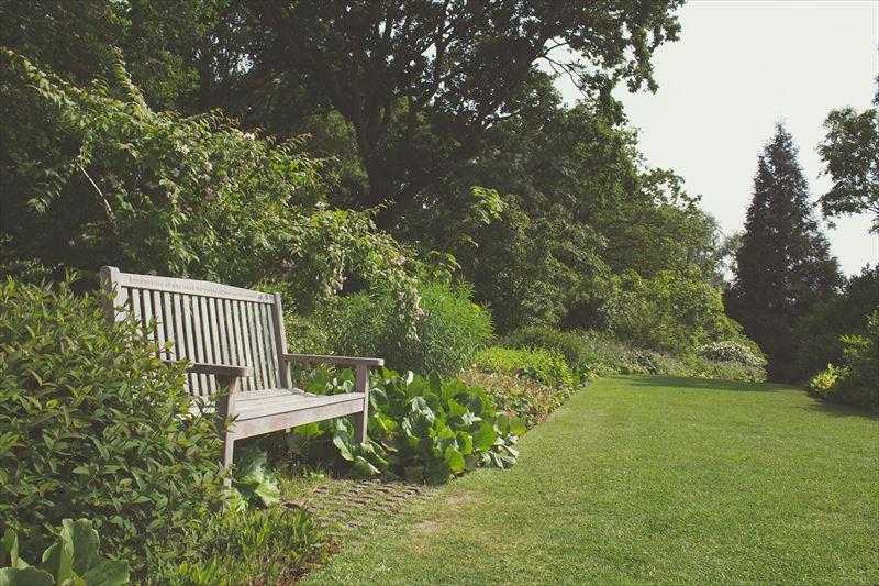 自然の森と管理された庭の境目