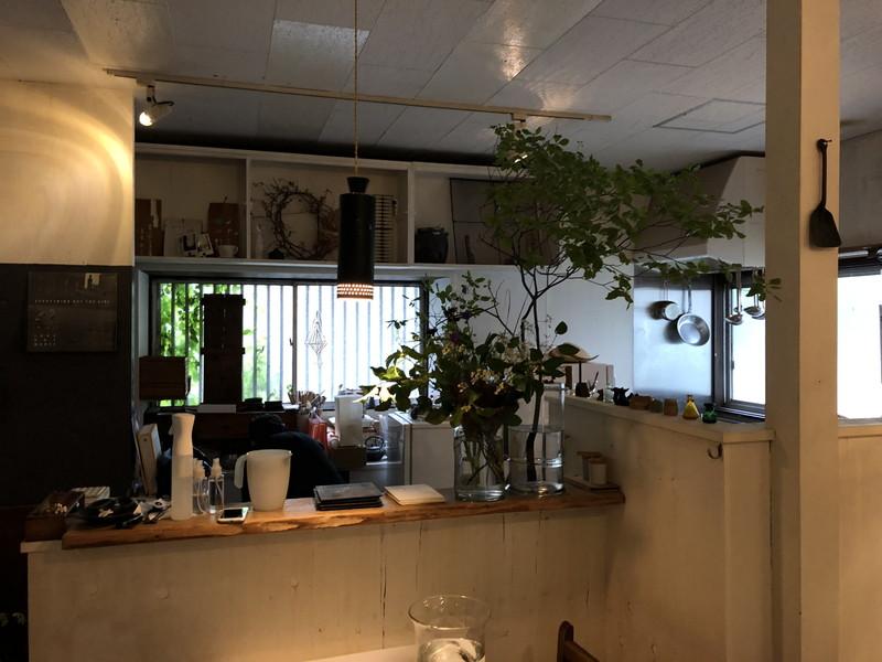 カフェikanika店内にある広めのキッチン
