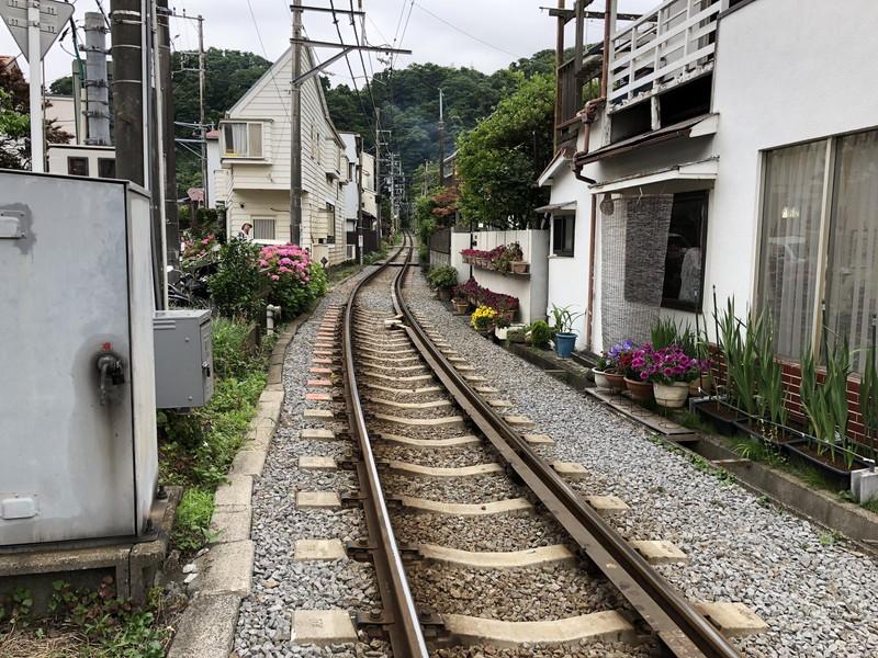 江ノ島電鉄の線路