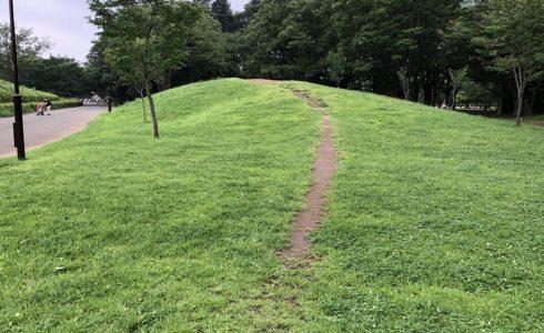 東京都小金井市にある素敵な小さな山の斜面