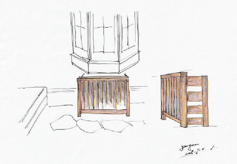 吉祥寺の個人邸の室外機プランイメージ図