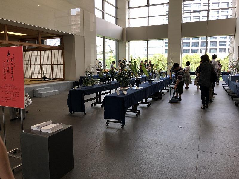 池坊東京会館で開催される池坊夏の男花展2019年の会場