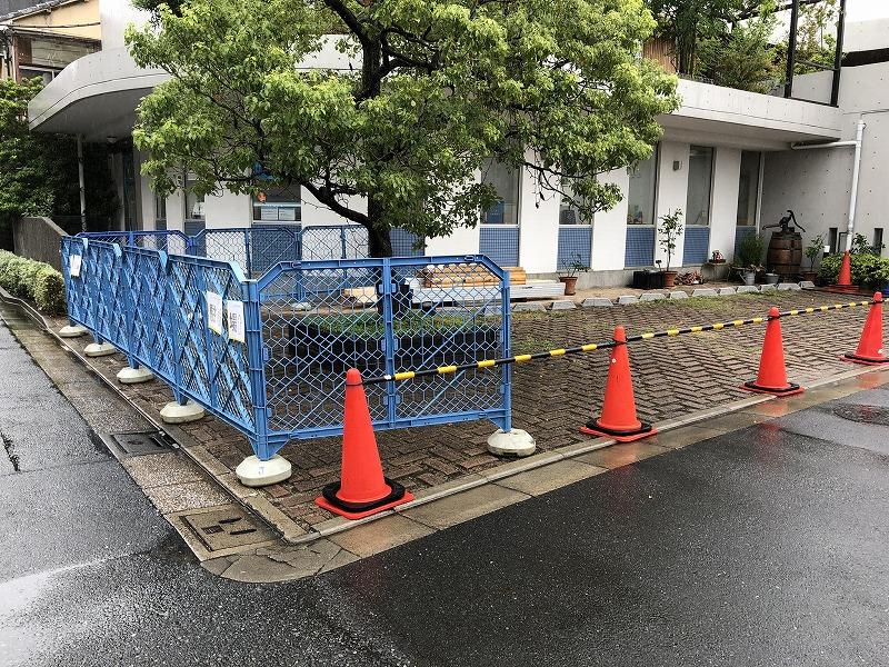 工事柵を設置した足立区の中央本町耳鼻咽喉科
