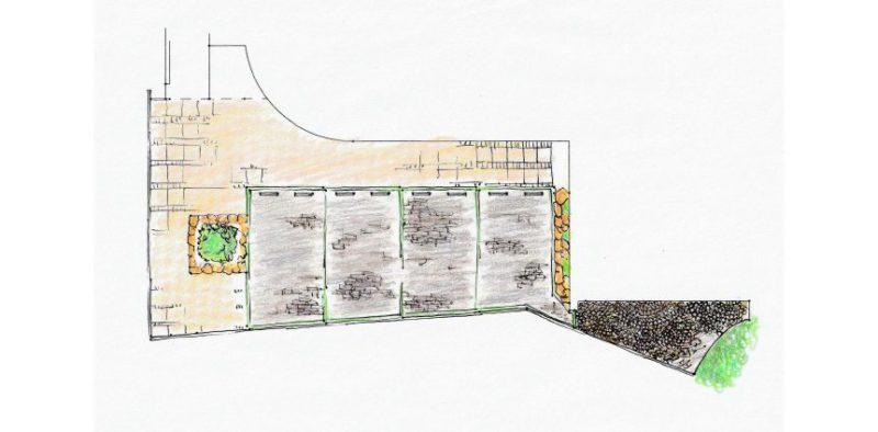 平面図から手描きされた中央本町耳鼻咽喉科のイメージ図