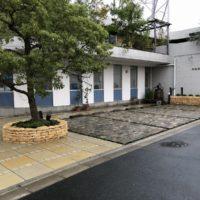 完成した足立区の中央本町耳鼻咽喉科の駐車場