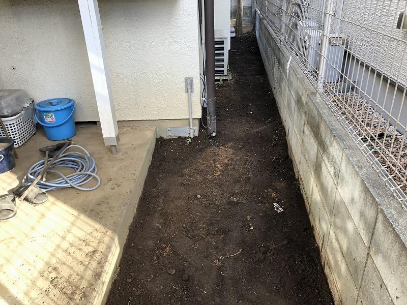 固まる土を施工する前の下地つくり