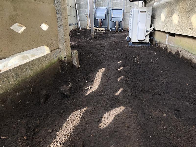 国分寺で行った固まる土施工の下準備