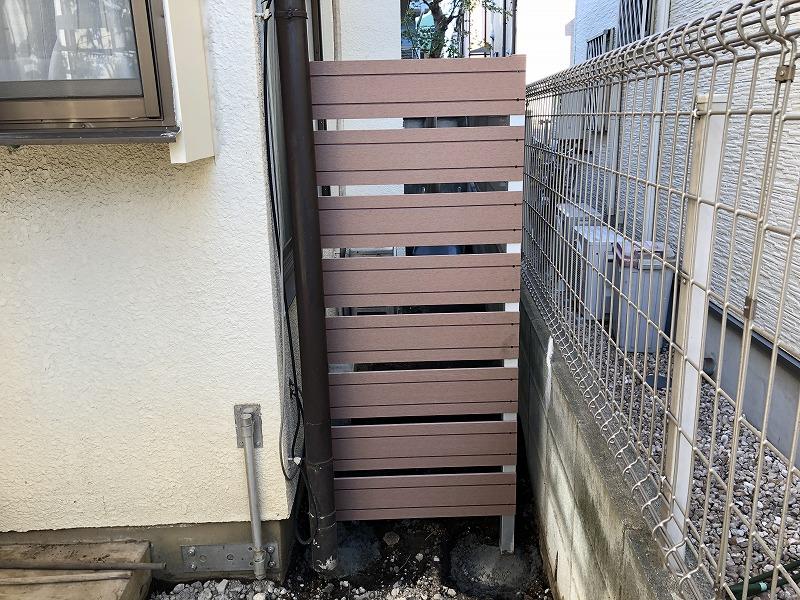国分寺市で施工した既製品の樹脂フェンス