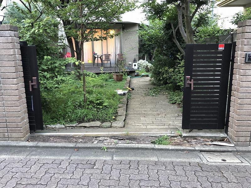 荒れた使いづらい目黒区の庭