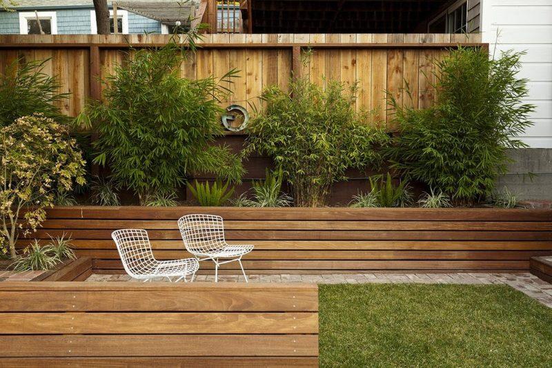 施工性が良いハードウッドの花壇