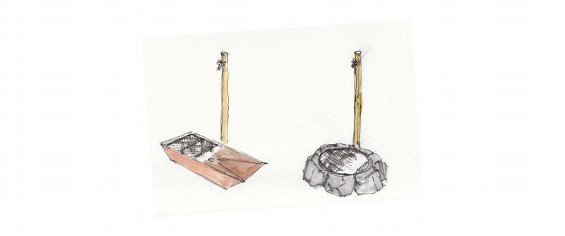 世田谷区のナチュラルガーデンの庭づくりでご提案した水受けパン