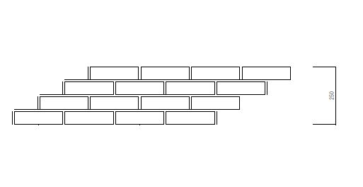 レンガの組み合わせの図面