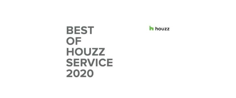 専門家紹介サイトHOUZZでサービス賞2020を獲得した書類