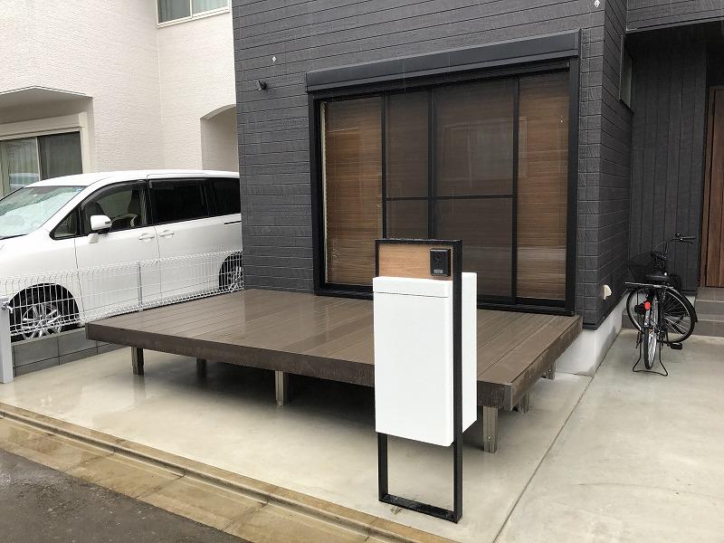 千葉県の新築住宅の樹脂製ウッドデッキ