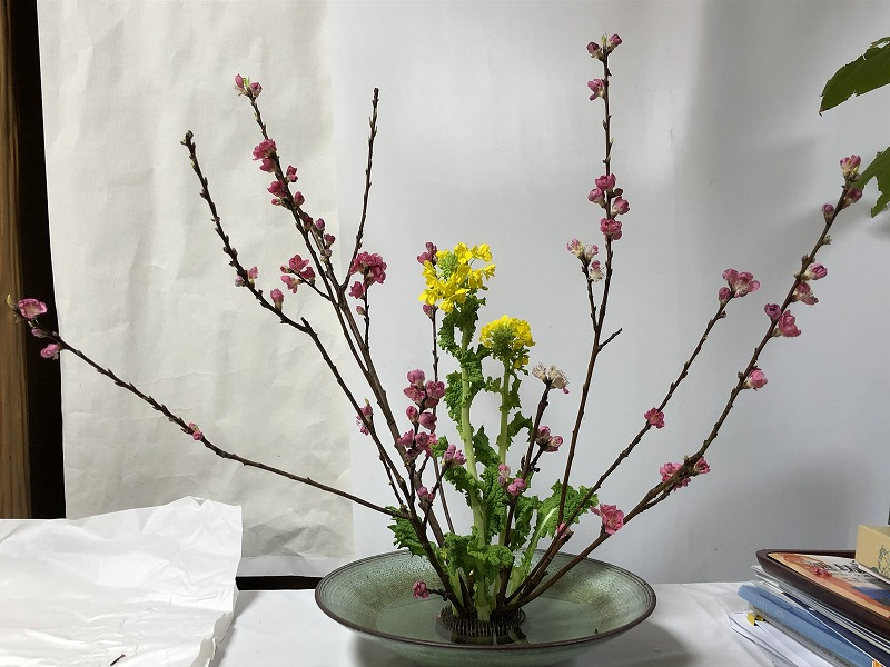 先生のダメを聞いて直した造園会社ぐりんぐりん横田の生け花