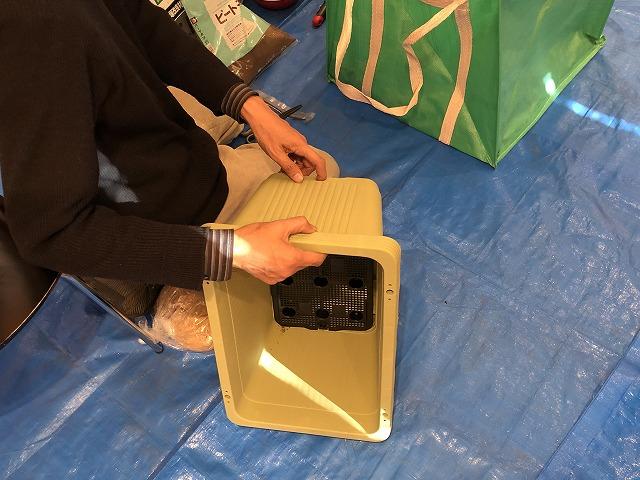 無肥料のプランター栽培のための横穴プランター